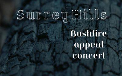 Surrey Hills Bushfire Relief concert – Postponed